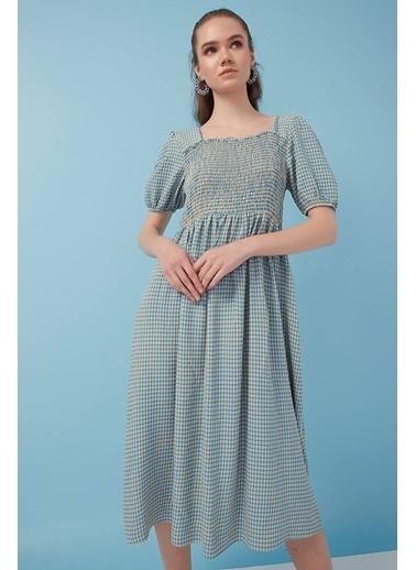 Modaset Gipeli Elbise  Mavi